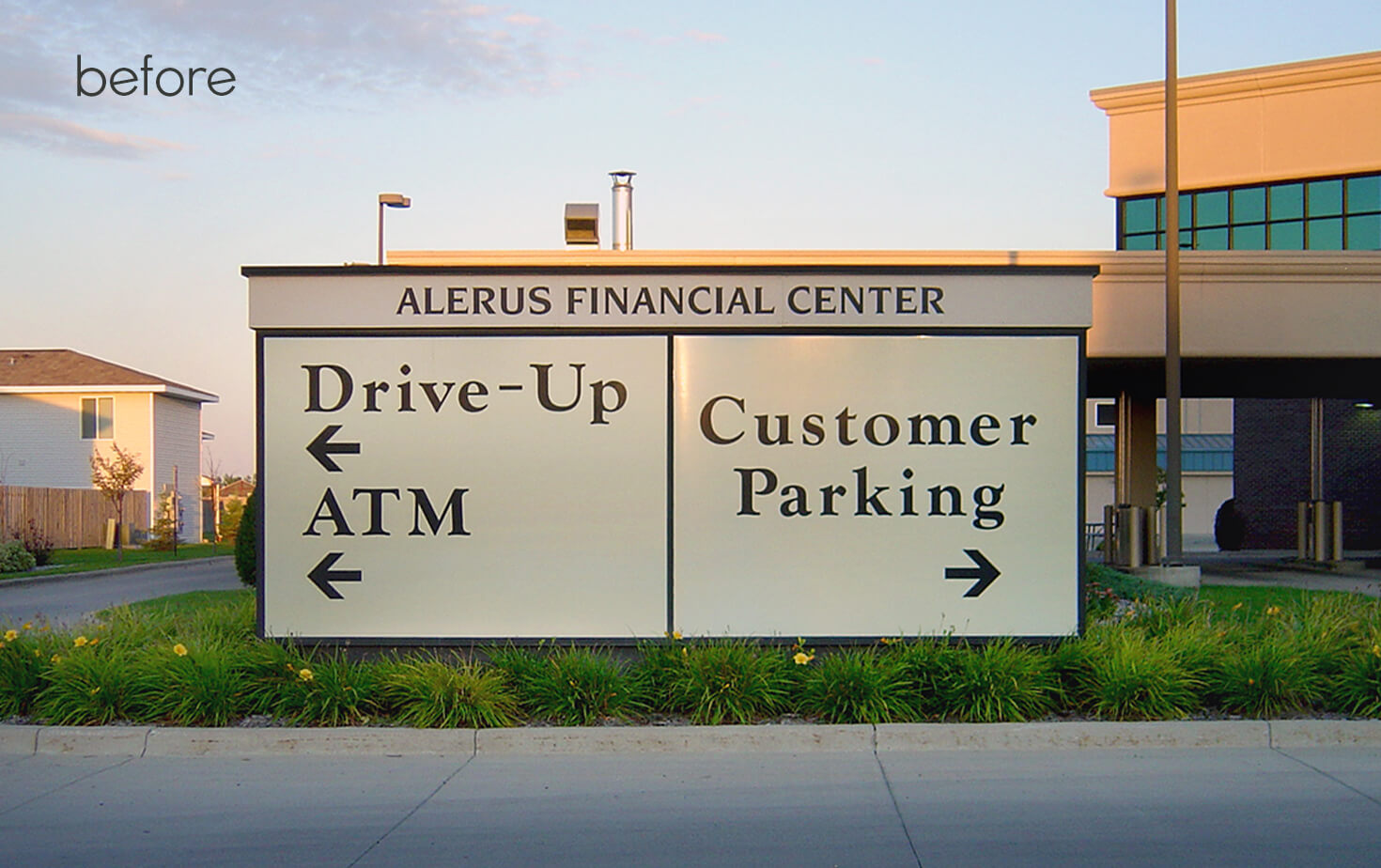 Alerus Financial Center Fargo ND Directional Monument