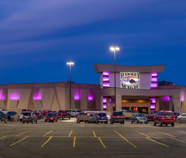 Dakota Magic Casino Hankinson ND Building Exterior Architectural Lighting and Channel Letters