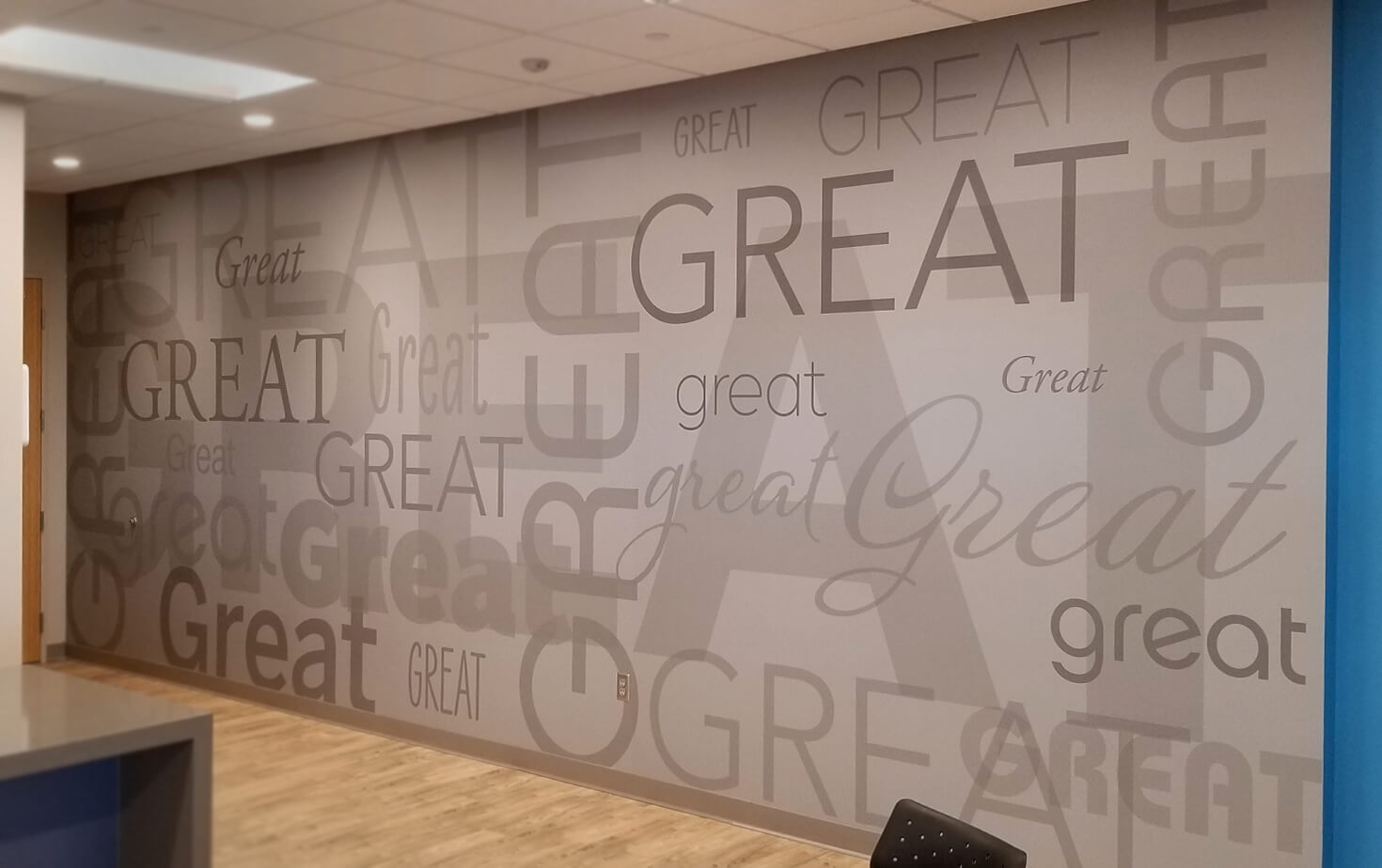 Great Clips Bloomington  Cafe wall mural