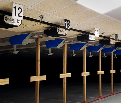 Minneapolis-St. Paul Air Reserve Small Arms Range - interior acrylic range number signs_home