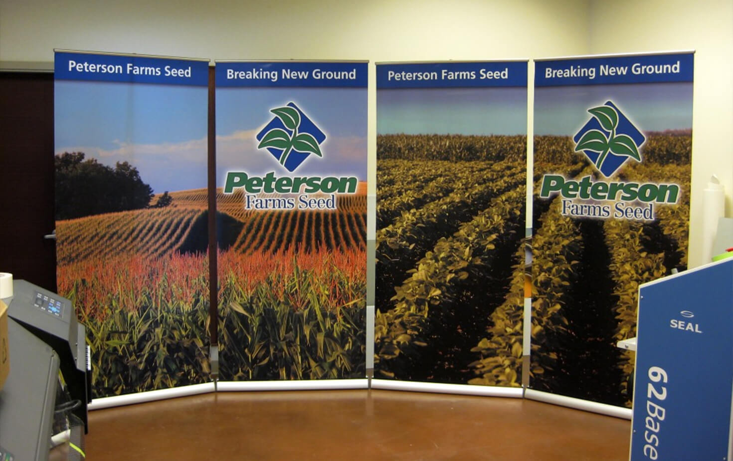 Peterson Farms Seed tradeshow banner stands