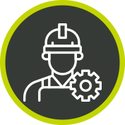 Maintenance Icon Man Hard hat Gear