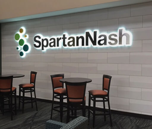 SpartanNash Interior Logo Sign