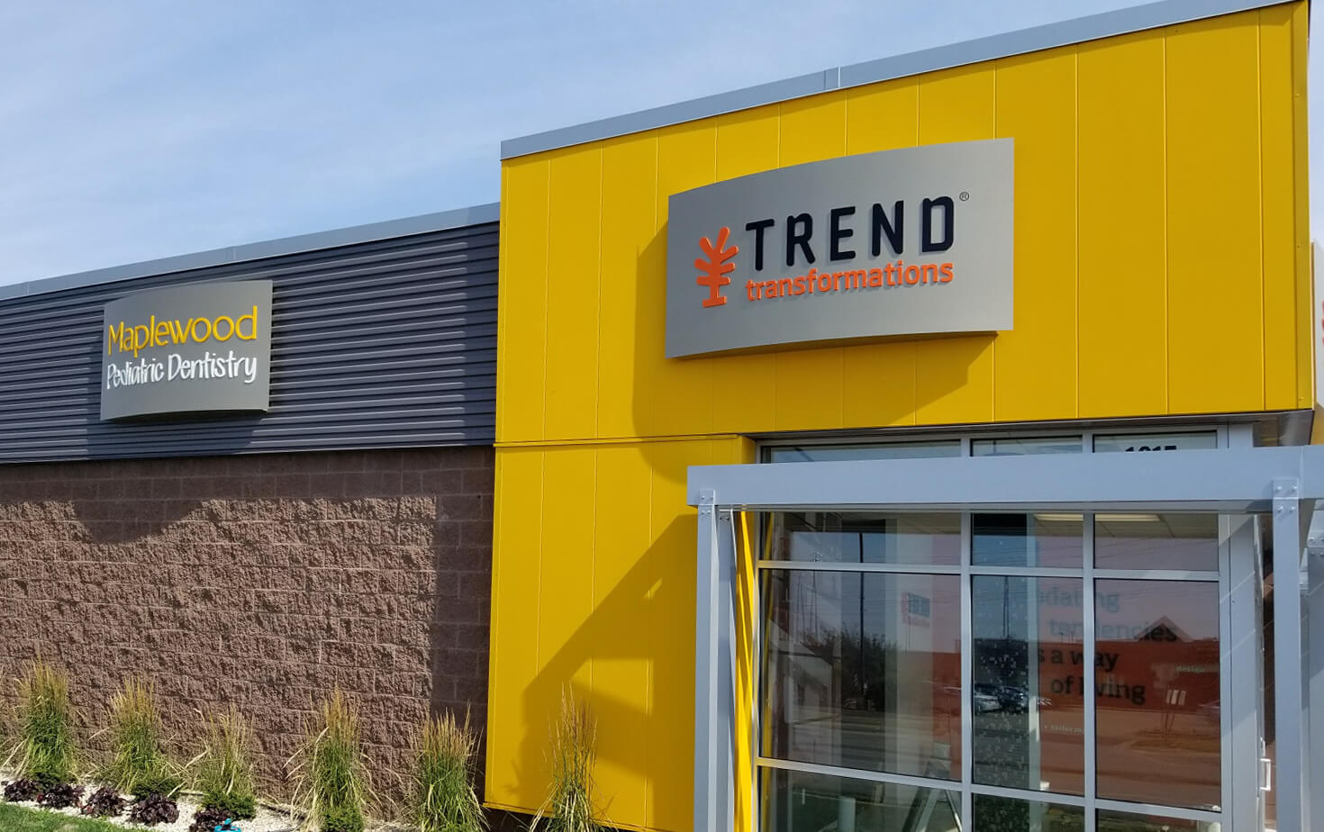 Trend Transformations and Maplewood Pedreatric Dentistry Wall Cabinets on Storefront Maplewood MN